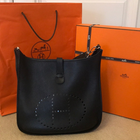 4aa222ca4160 Hermes Bags | Herms Evelyne Black Large Crossbody Bag | Poshmark